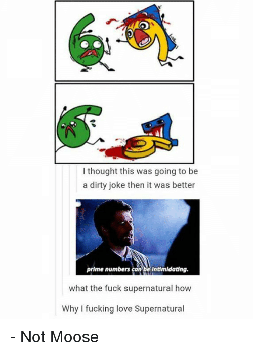 Fucking, Love, and Memes: I thought this was going to be  a dirty joke then it was better  prime numbers can be intimidating.  what the fuck supernatural how  Why I fucking love Supernatural - Not Moose