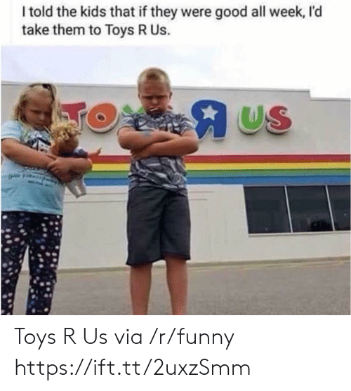 Toys R Us: I told the kids that if they were good all week, I'd  take them to Toys R Us.  US Toys R Us via /r/funny https://ift.tt/2uxzSmm