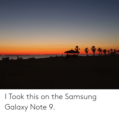Galaxy Note: I Took this on the Samsung Galaxy Note 9.