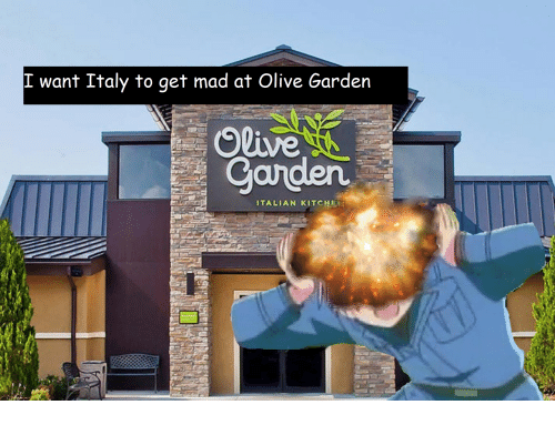 italian: I want Italy to get mad at Olive Garden  Olive  Canden  ITALIAN KITCHE