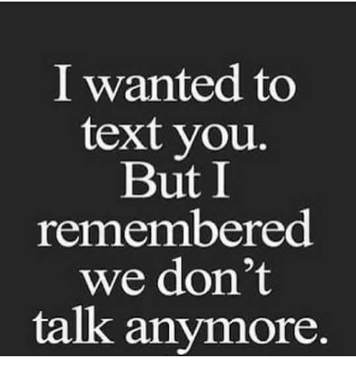 memes: I wanted to  text you.  But I  remembered  we don't  talk anymore