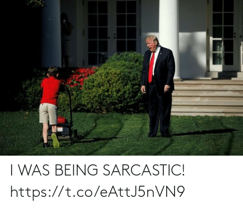 sarcastic: I WAS BEING SARCASTIC! https://t.co/eAttJ5nVN9