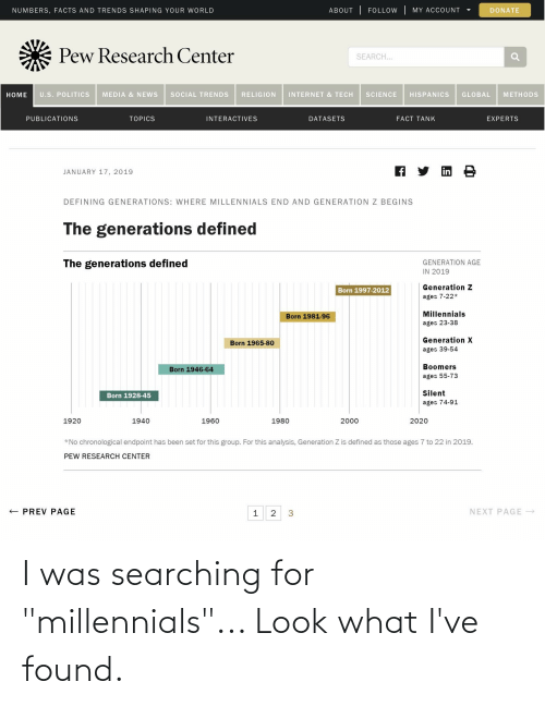 """Searching: I was searching for """"millennials""""... Look what I've found."""