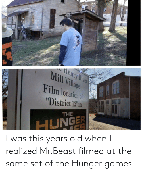 The Hunger Games: I was this years old when I realized Mr.Beast filmed at the same set of the Hunger games