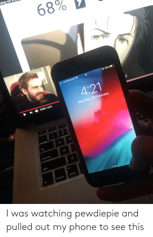 Pulled Out: I was watching pewdiepie and pulled out my phone to see this