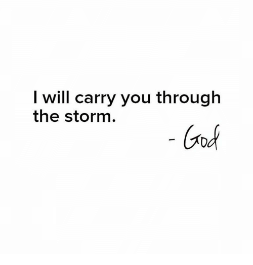God, Memes, and 🤖: I will carry you through  God  the storm.