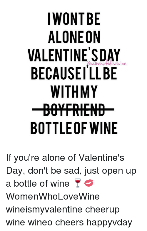 if you're spending valentine day alone meme - Funny Valentine s Day and Wine Memes of 2016 on SIZZLE