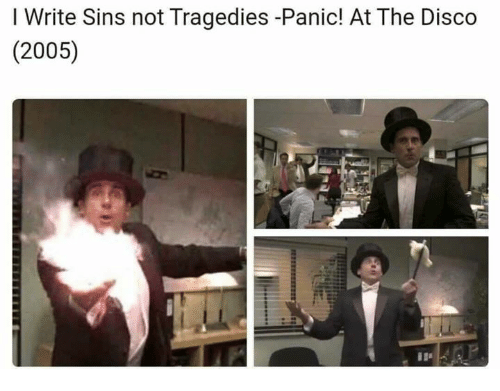 Panic at the Disco, Disco, and  Panic: I Write Sins not Tragedies -Panic! At The Disco  (2005)
