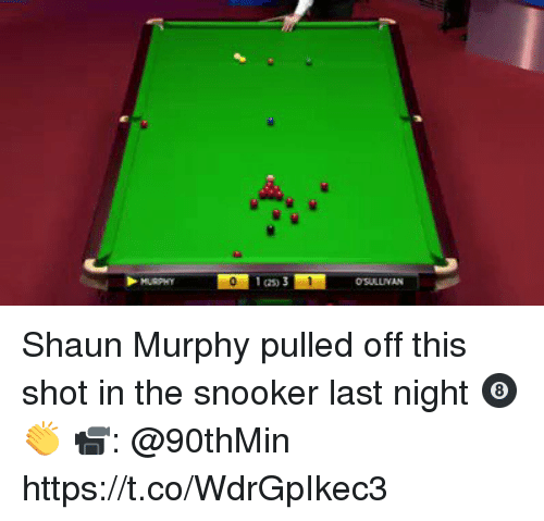 Ian 3 Shaun Murphy Pulled Off This Shot In The Snooker