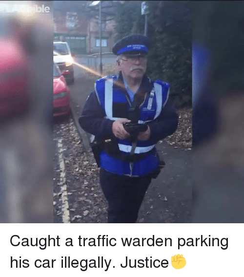 ibl: ible Caught a traffic warden parking his car illegally. Justice✊