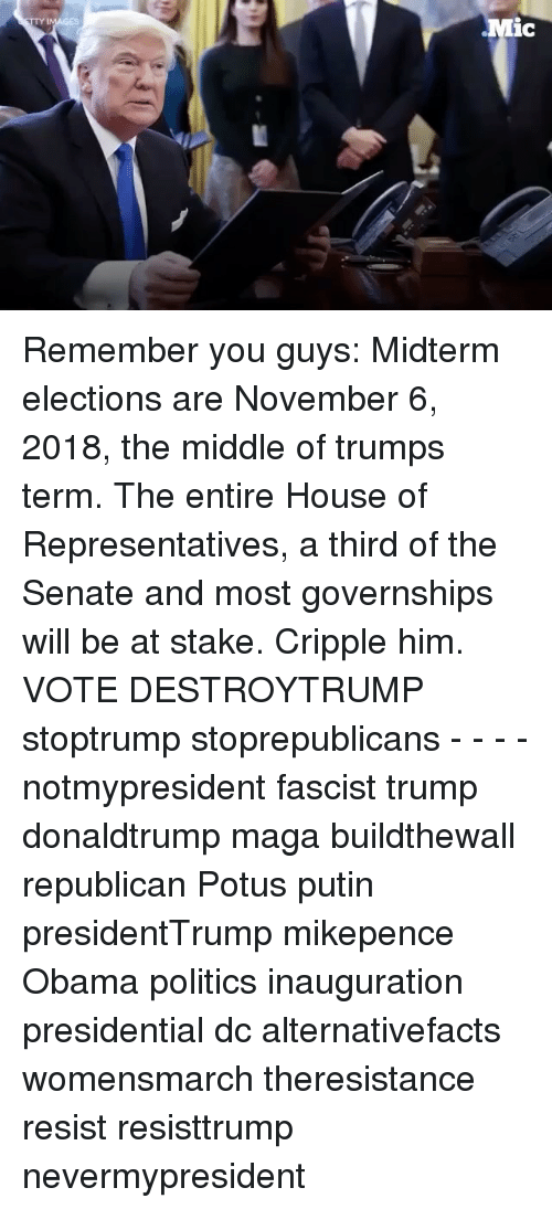 Ic Remember You Guys Midterm Elections Are November 6 2018 ...