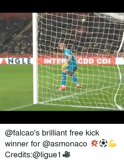 dcd: IC74  GLE  DCD  E @falcao's brilliant free kick winner for @asmonaco 💥⚽️💪 Credits:@ligue1🎥