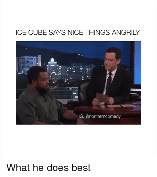 Ice Cube: ICE CUBE SAYS NICE THINGS ANGRILY  IG:@northerncomedy What he does best