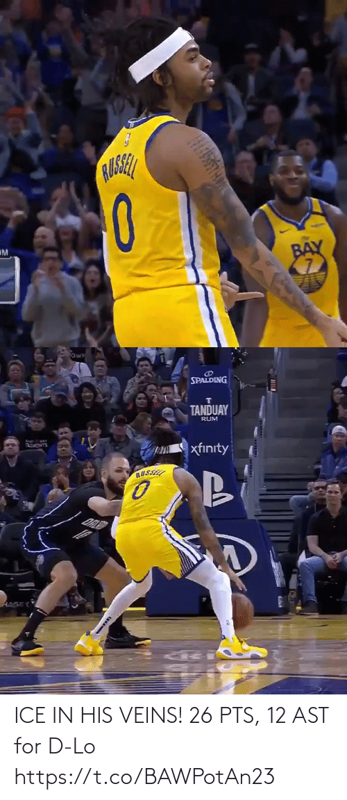 ast: ICE IN HIS VEINS!   26 PTS, 12 AST for D-Lo  https://t.co/BAWPotAn23