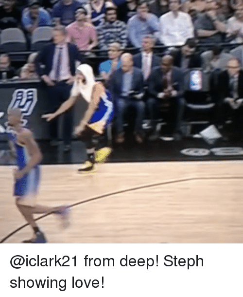 Basketball, Golden State Warriors, and Love: @iclark21 from deep! Steph showing love!