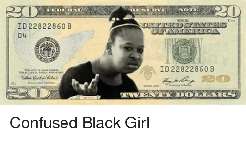 Confused, Confused Black Girl, and Black: ID 22822860 B  D4  20  NOTE  LESSEE EVE  ID 22822860 B