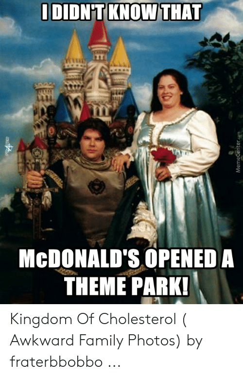 Fraterbbobbo: IDIDN'T KNOW  THAT  1114  McDONALD'S OPENED A  THEME PARK! Kingdom Of Cholesterol ( Awkward Family Photos) by fraterbbobbo ...