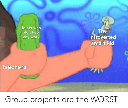 Group Projects: Idiots who  The  introverted  smart kid  don't do  any work  Teachers Group projects are the WORST