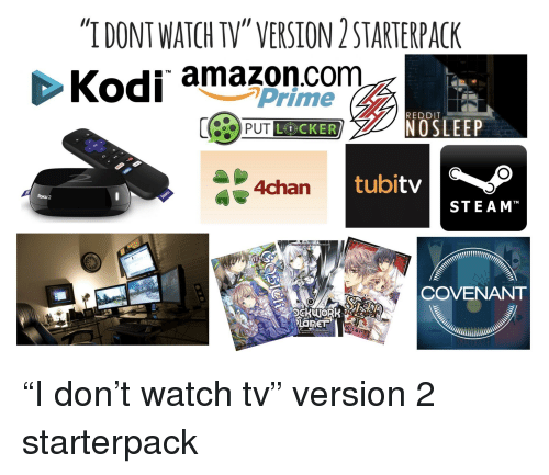 IDONT WATCH TV VERSION 2 STARTERPACK Kodi Amazoncom TM ...