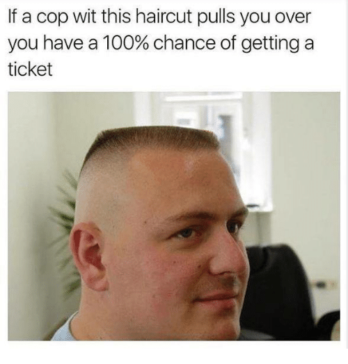 Haircut, Memes, and Haircuts: If a cop wit this haircut pulls youover  you have a 100% chance of getting a  ticket