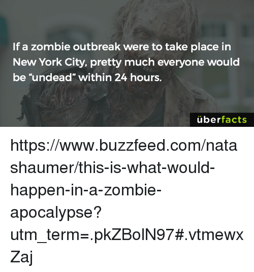 "Memes, New York, and Uber: If a zombie outbreak were to take place in  New York City, pretty much everyone would  be ""undead"" within 24 hours.  uber  facts https://www.buzzfeed.com/natashaumer/this-is-what-would-happen-in-a-zombie-apocalypse?utm_term=.pkZBolN97#.vtmewxZaj"
