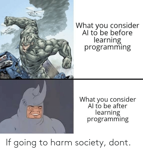 Harm: If going to harm society, dont.