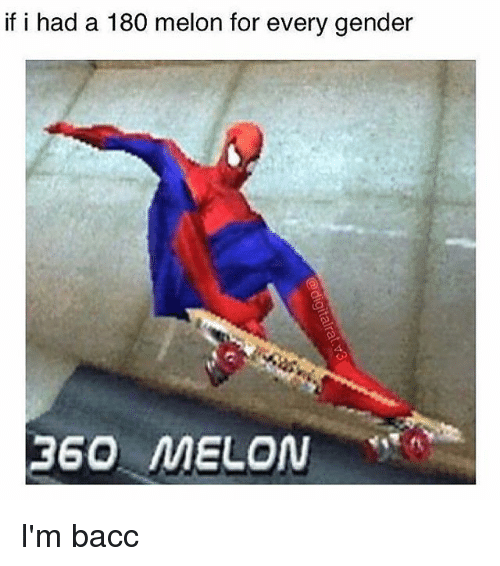 Melonism: if i had a 180 melon for every gender I'm bacc