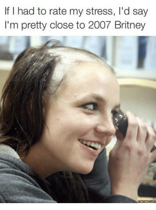 Funny Stressed Out Meme : Funny britney memes of on sizzle spears