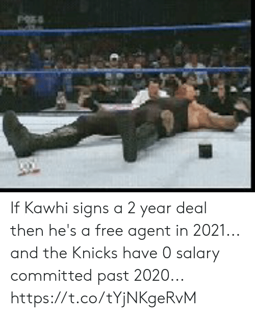 New York Knicks: If Kawhi signs a 2 year deal then he's a free agent in 2021... and the Knicks have 0 salary committed past 2020... https://t.co/tYjNKgeRvM