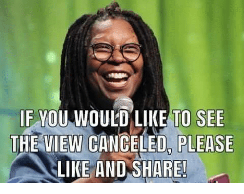The View: IF MOU W  DULD LIKE TO SEE  THE VIEW CANCELED, PLEASE  LIKE AND SHARE