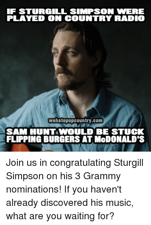 Funny grammys memes of 2016 on sizzle back to back Sturgill simpson grammy performance