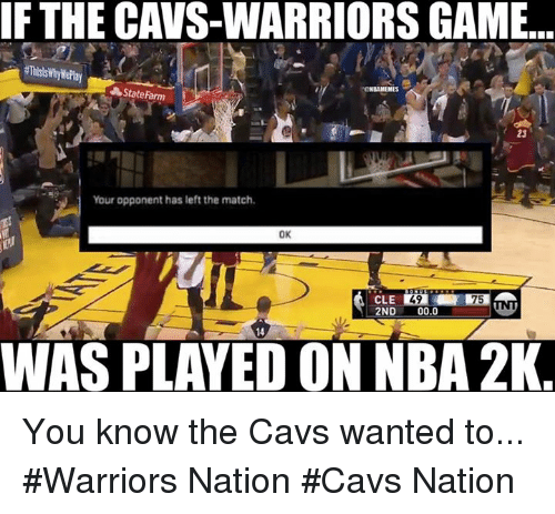 Warriors Come Out To Play Meme: Funny Nba 2k Memes Of 2017 On SIZZLE