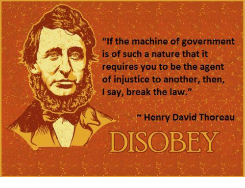 a literary analysis of civil disobedience by henry david thoreau