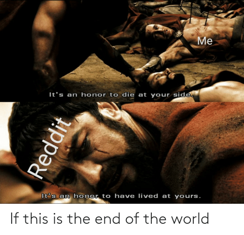 end of the world: If this is the end of the world