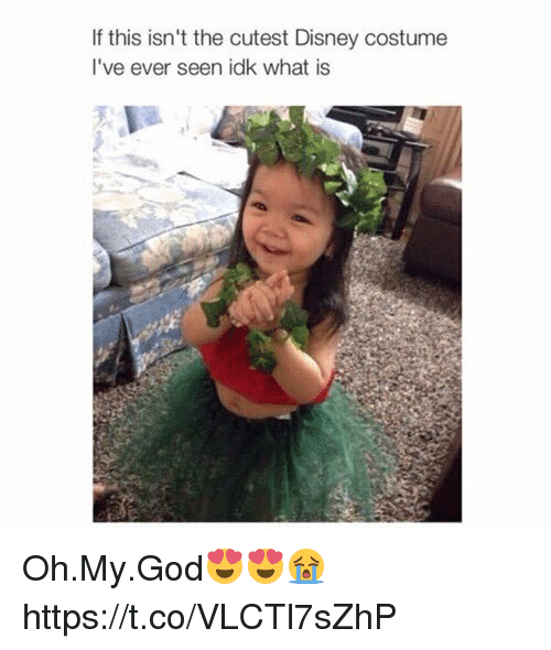 Disney, God, and Oh My God: If this isn't the cutest Disney costume  I've ever seen idk what is Oh.My.God😍😍😭 https://t.co/VLCTl7sZhP