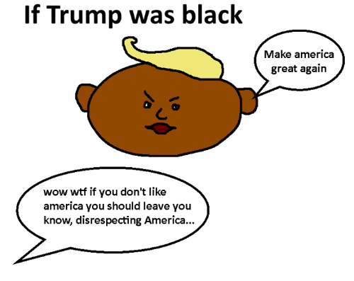 America, Dank, and Wow: If Trump was black  wow wtf if you don't like  america you should leave you  know, disrespecting America...  Make america  great again