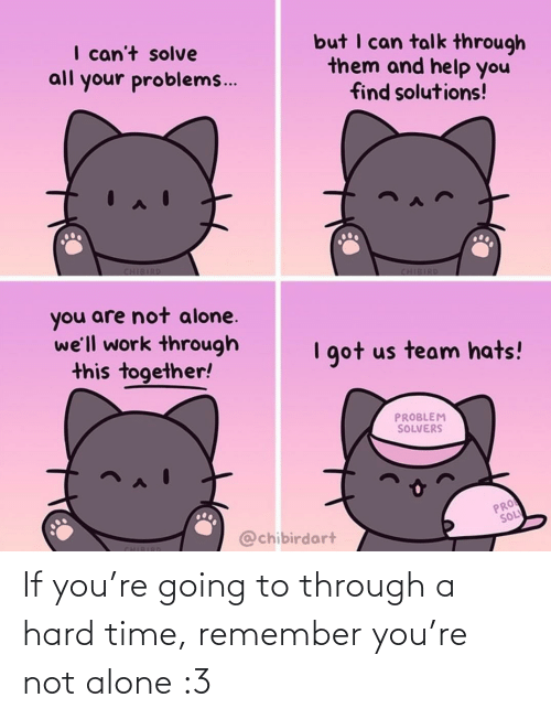 Not Alone: If you're going to through a hard time, remember you're not alone :3