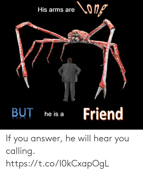 answer: If you answer, he will hear you calling. https://t.co/I0kCxapOgL