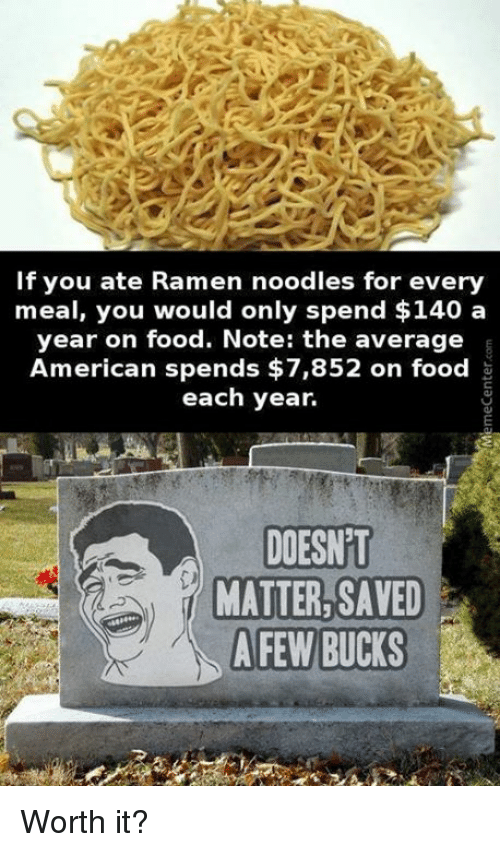 if you ate ramen noodles for every meal you would 6290346 🔥 25 best memes about ramen noodle ramen noodle memes