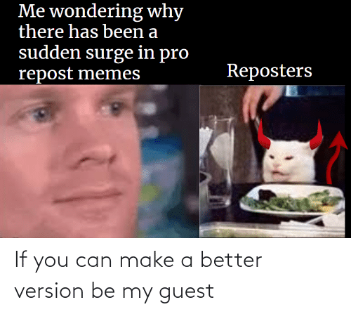 Guest: If you can make a better version be my guest