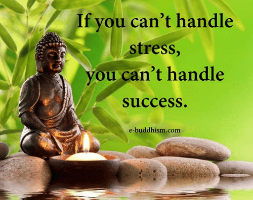 Buddhism: If you can't handle  stress,  you can't handle  success  e-buddhism.com