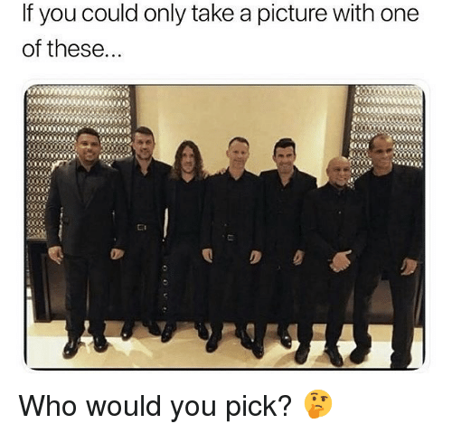 Soccer, Sports, and A Picture: If you could only take a picture with one  of these Who would you pick? 🤔