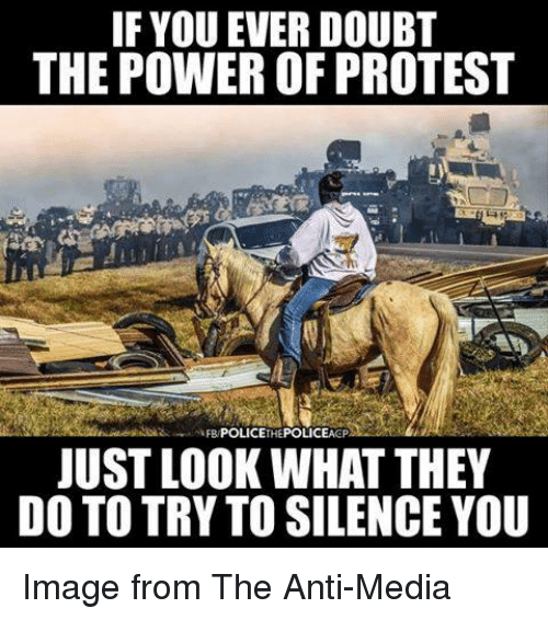 Anti Media: IF YOU EVER DOUBT  THE POWER OF PROTEST  POLICE  HE  JUST LOOK WHAT THEY  DO TO TRY TO SILENCE YOU Image from The Anti-Media