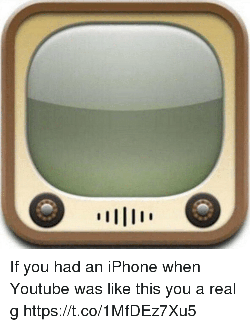 Iphone, youtube.com, and Hood: If you had an iPhone when Youtube was like this you a real g https://t.co/1MfDEz7Xu5