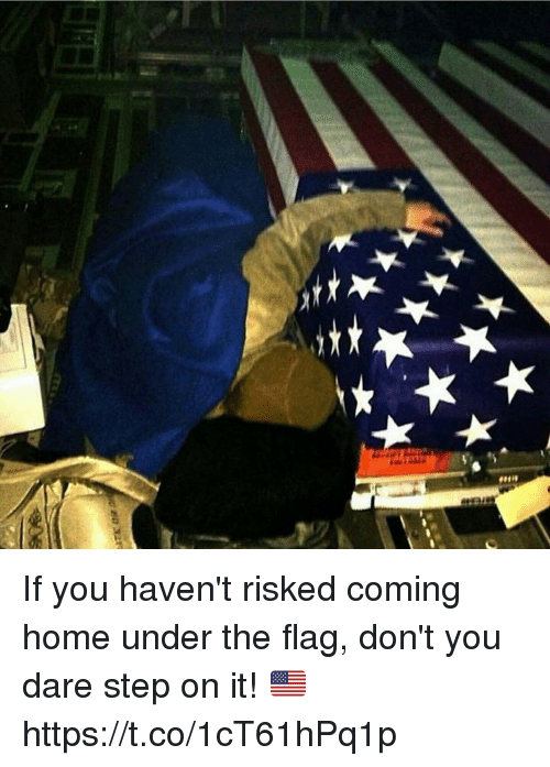 Memes, Home, and Coming Home: If you haven't risked coming home under the flag, don't you dare step on it! 🇺🇸 https://t.co/1cT61hPq1p