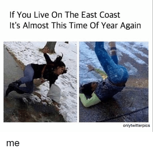 Memes, Live, and Time: If You Live On The East Coast  It's Almost This Time Of Year Again  only twitterpics me