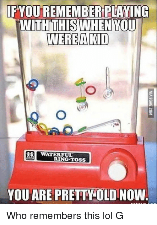 ring toss: IF YOU REMEMBER PLAYING  WITH THIS WHEN YOU  WERE A KID  WATERFUL  RING TOSS  YOU ARE PRETTOLO NOW Who remembers this lol  G