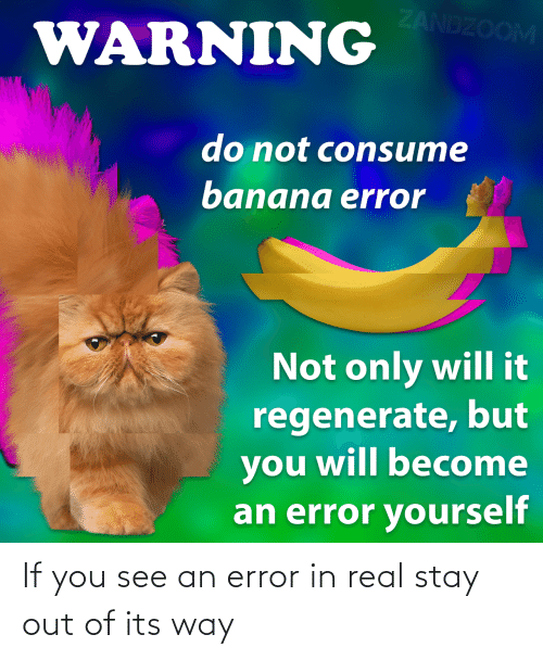 stay: If you see an error in real stay out of its way