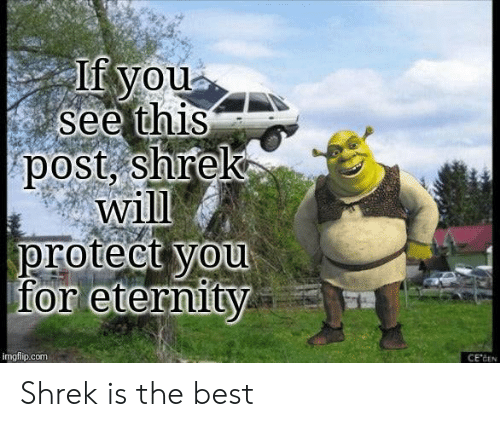 You See This: If you  see this  post, shrek  will  protect you  for eternity  imgflip.com  CE'CEN Shrek is the best