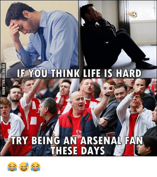 Memes, 🤖, and Flu: IF YOU THINK LIFE IS HARD  Flu  Nair  TRY BEING AN ARSENAL FAN  THESE DAYS 😂😅😂